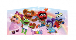 MUPPET BABIES PINK/PURPE BOUNCE HOUSE