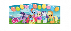 MY LITTLE PONY BALLOONS PINK/PURPLE BOUNCE HOUSE
