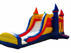 Single Lane Dry Slide 3 in 1 R/B/Y Bounce Combo