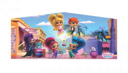 SHIMMER & SHINE PINK/PURPLE BOUNCE HOUSE