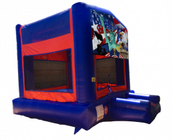 Patriotic Red/Blue/Yellow Bounce House