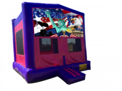 Patriotic Pink/Purple Bounce House