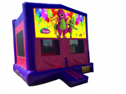 Barney Pink/Purple Bounce House