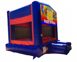 Happy Birthday (Cake) Red/Blue/Yellow Bounce House