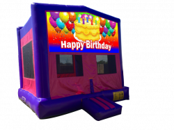 Happy Birthday (Cake) Pink/Purple Bounce House