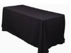 12 Black Linens For 8' Rectangular Tables