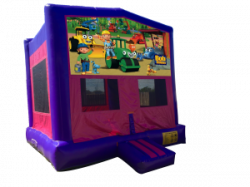 Bob The Builder Pink/Purple Bounce House