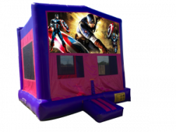 Captain America Pink/Purple Bounce House