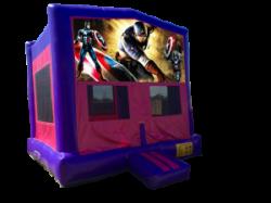 Captain America Pink/Purple Bounce House