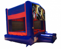 Captain America Red/Blue/Yellow Bounce House