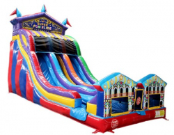 DOUBLE LANE SUPER FUN 22' Wet OR Dry SLIDE