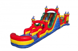 75 FT CIRCUS BOUNCE OBSTACLE WITH DUAL LANE ROLLER COASTER S