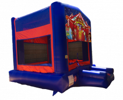 Circus Red/Blue/Yellow Bounce House