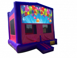 Congratulations Pink/Purple Bounce House