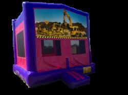Construction Pink/Purple Bounce House