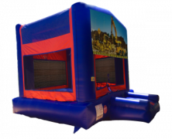 Construction Red/Blue/Yellow Bounce House