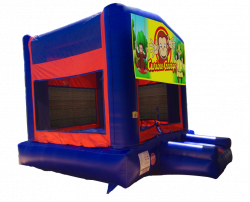 Curious George Red/Blue/Yellow Bounce House