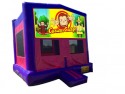 Curious George Pink/Purple Bounce House