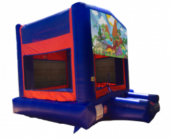 Dinosaurs Red/Blue/Yellow Bounce House
