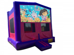 Dora The Explorer Pink/Purple Bounce House