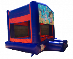 Dora The Explorer Red/Blue/Yellow Bounce House