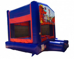 Seussville Red/Blue/Yellow Bounce House