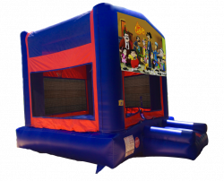 El Chavo Red/Blue/Yellow Bounce House