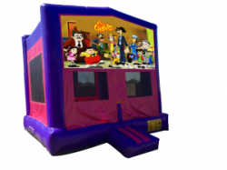 El Chavo Pink/Purple Bounce House