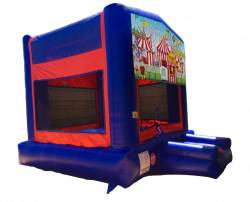 Carnival Red/Blue/Yellow Bounce House