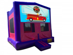 Fire Department Pink/Purple Bounce House