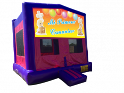 First Communion Pink/Purple Bounce House