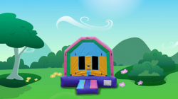 Small Pink/Purple/Blue/Yellow Bounce House