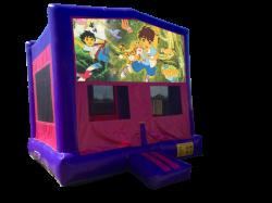 Go Diego Go Pink/Purple Bounce House
