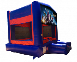 Guardians Of The Galaxy Red/Blue/Yellow Bounce House