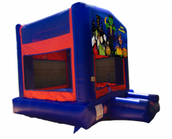 Halloween Red/Blue/Yellow Bounce House