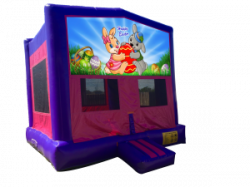 Happy Easter Pink/Purple Bounce House