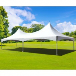 White 40' X 60' Sextuplet High Peak Tented Area