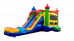 MULTICOLOR SUPERSLIDE WATERSLIDE 5 IN 1 BOUNCE COMBO