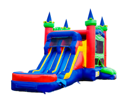 CASTLE DOUBLE LANE WATER SLIDE THEME READY 5 IN 1 COMBO