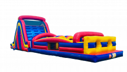 64' Wet Two Lane Obstacle Course WaterPark Combo
