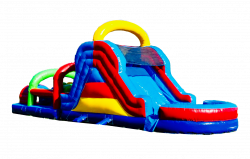 40 FT WATER SLIDE TWO LANE OBSTACLE WATERPARK COMBO