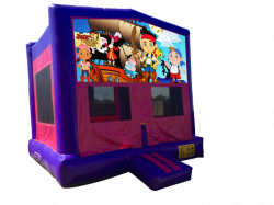 Jake and the Never Land Pirates Pink/Purple Bounce House