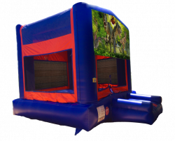Jurassic Red/Blue/Yellow Bounce House