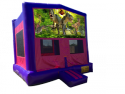 Jurassic Park Pink/Purple Bounce House