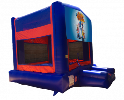 Lazy Town Red/Blue/Yellow Bounce House