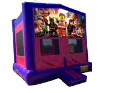The Lego Movie Pink/Purple Bounce House