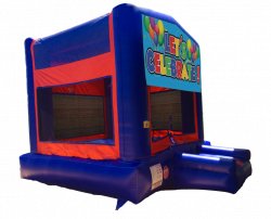 Let's Celebrate Red/Blue/Yellow Bounce House