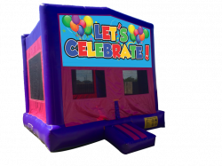 Let's Celebrate Pink/Purple Bounce House
