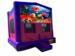 The Little Mermaid Pink/Purple Bounce House