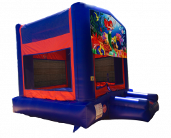 The Little Mermaid Red/Blue/Yellow Bounce House